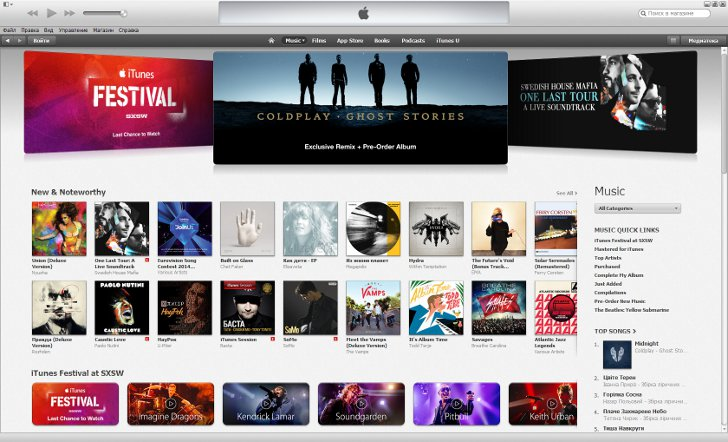 Music in the iTunes Store