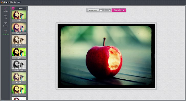 Popular online photo editors with effects
